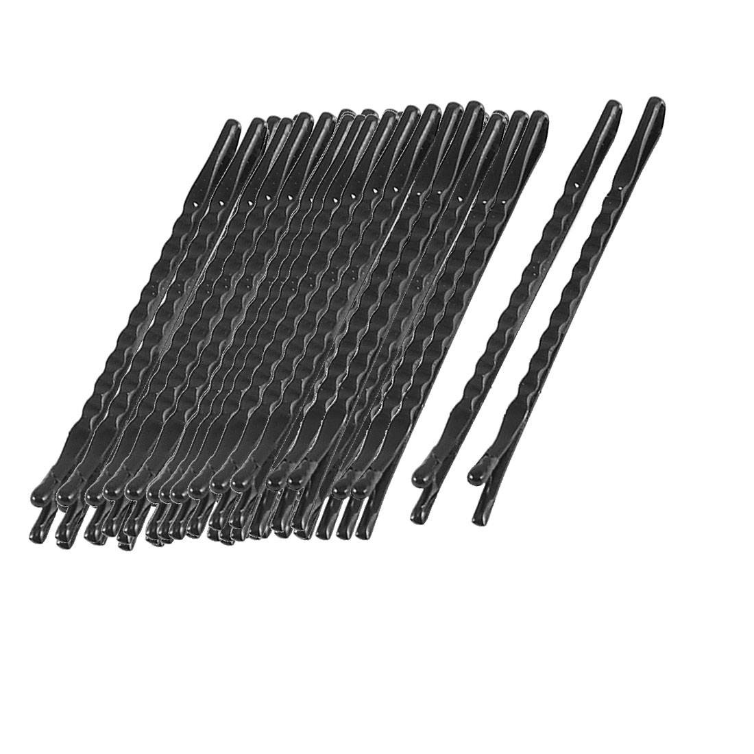 Women DIY Hairdo Black Briefness Hair Barrette Clips Bobby Pin 60 Pcs
