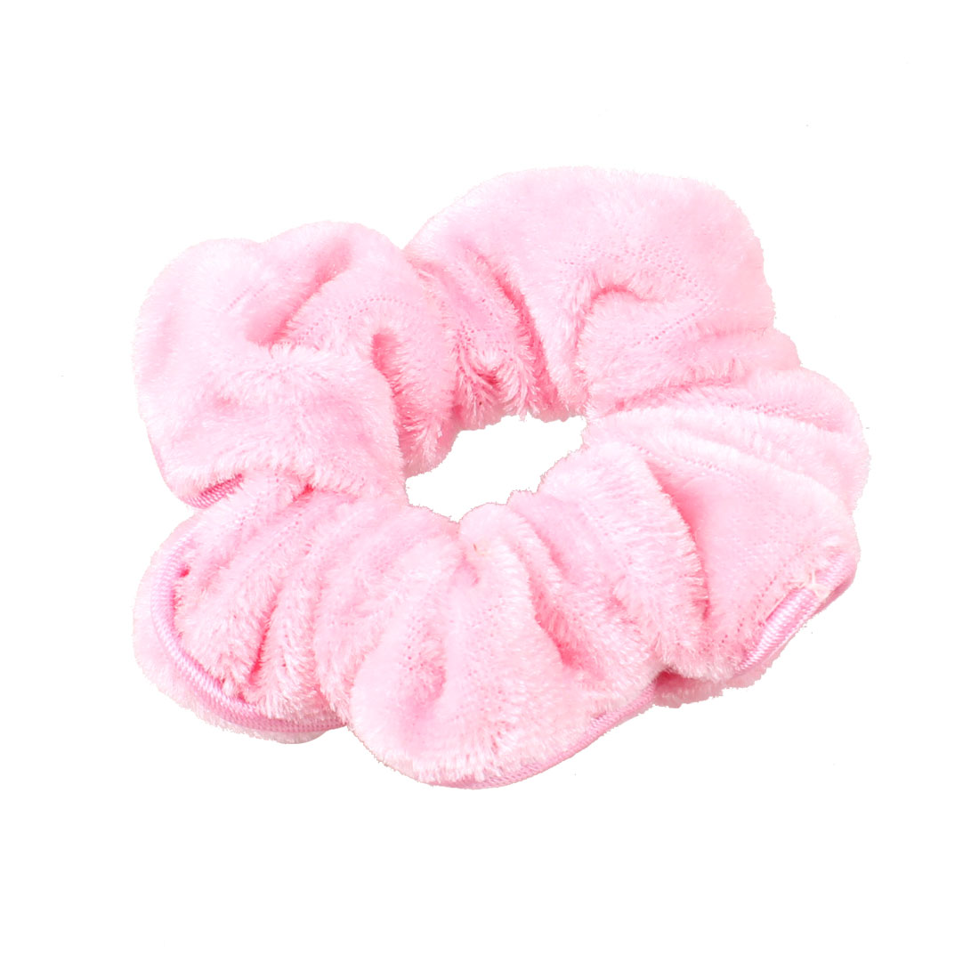 Headdress Pink Velvet Elastic Hair Holder Decoration for Women