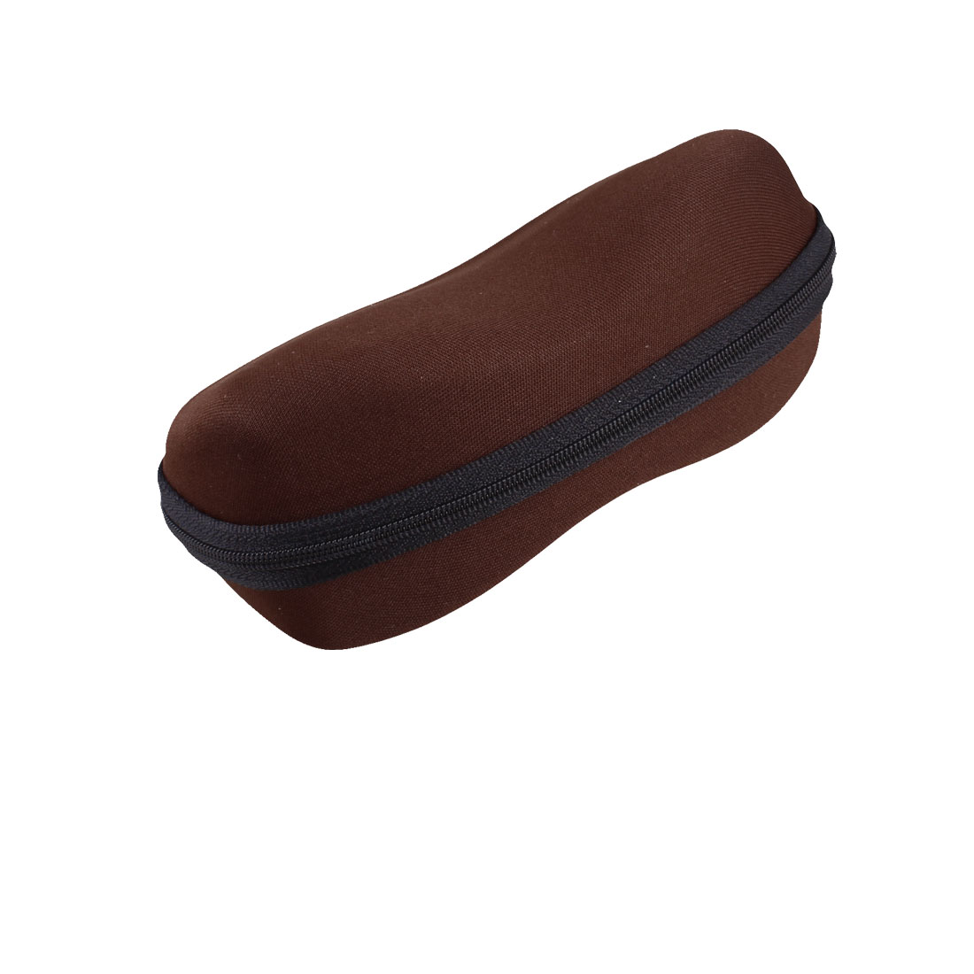 Spectacles Glasses Eyeglasses Faux Flannel Case Box Holder Chocolate Color