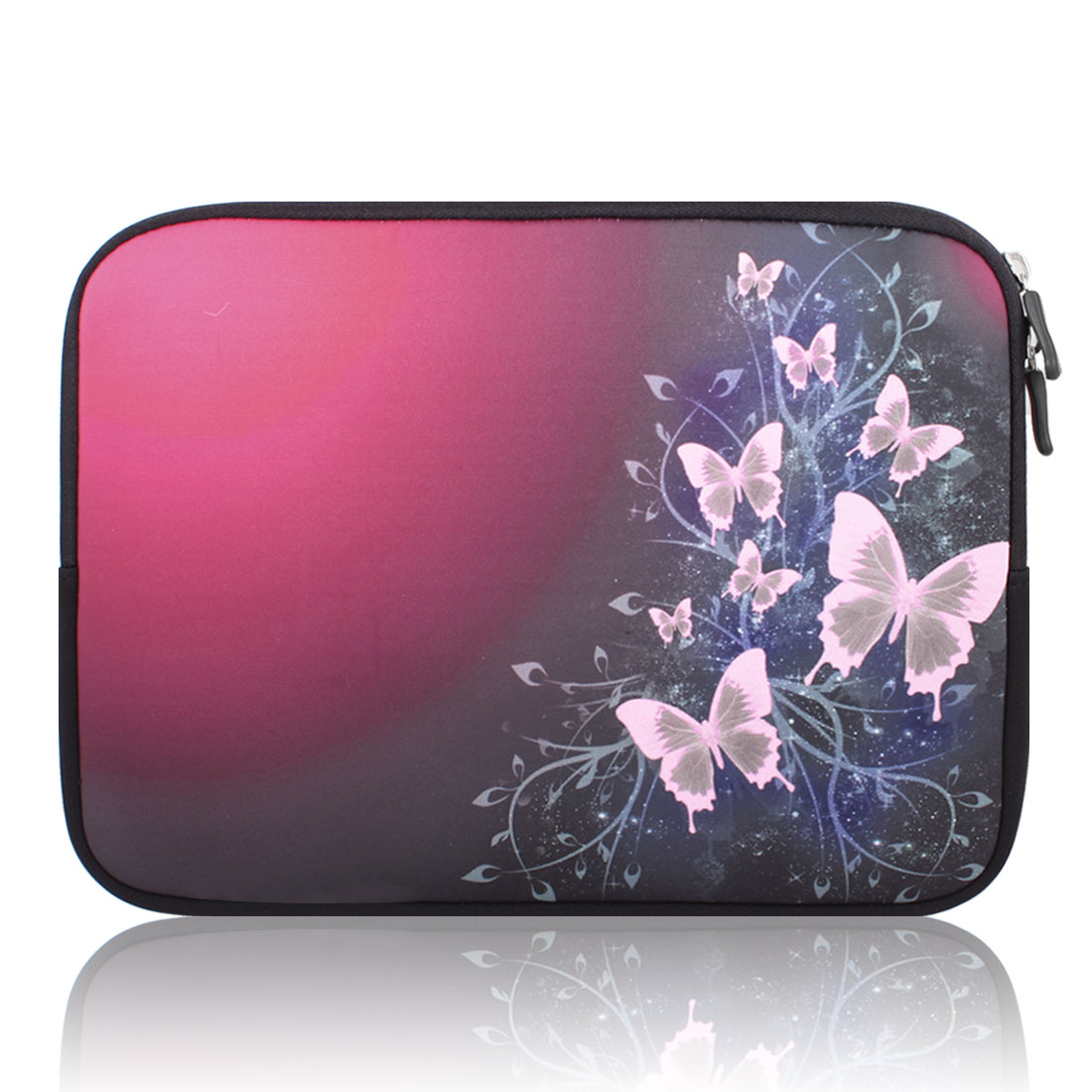 "Butterfly 10"" 10.1"" 10.2"" Neoprene Notebook Laptop Sleeve Bag Case"