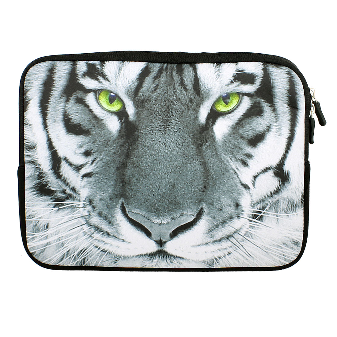 "Tiger Print 10"" 10.1"" 10.2"" Neoprene Notebook Laptop Sleeve Bag Case"