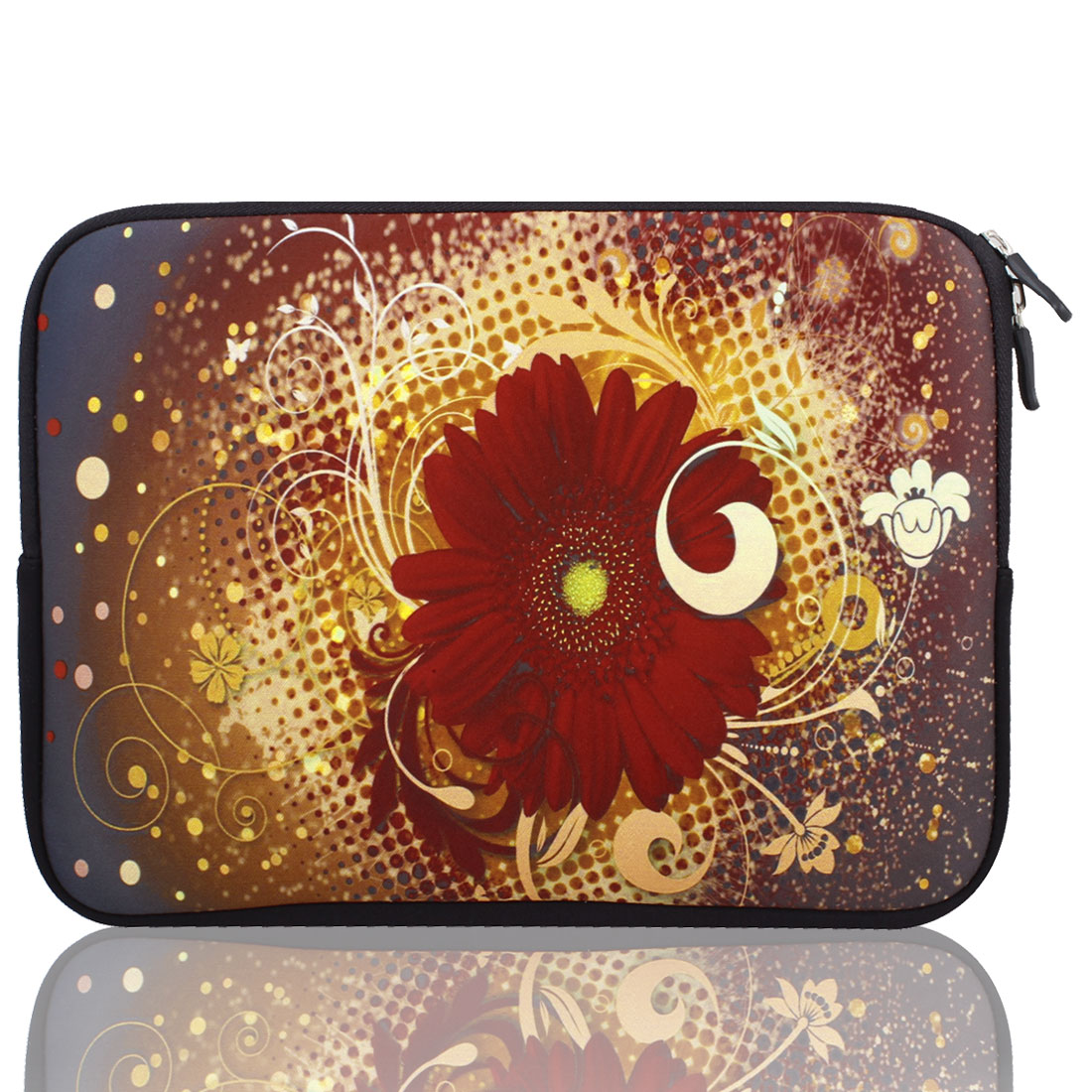 "Mum Flower 10"" 10.1"" 10.2"" Neoprene Notebook Laptop Sleeve Bag Case"