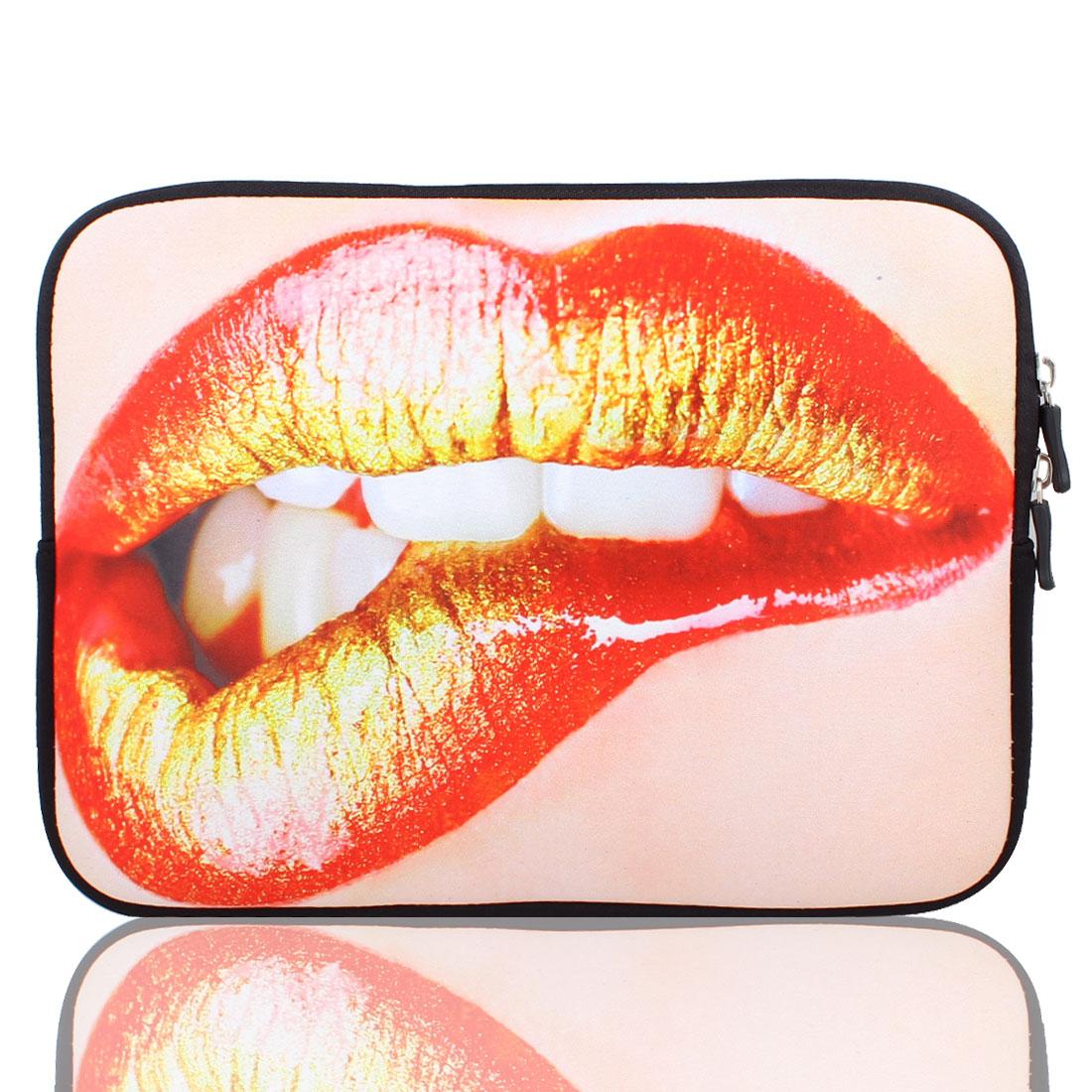 "Lip Pattern 10"" 10.1"" 10.2"" Neoprene Notebook Laptop Sleeve Bag Case"