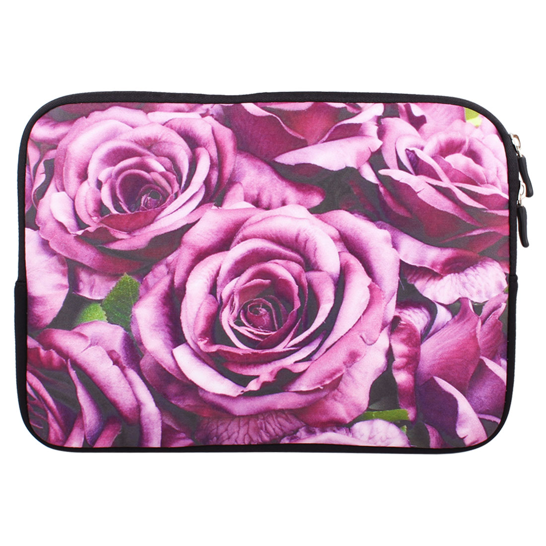 "Rose Flowers 10"" 10.1"" 10.2"" Neoprene Notebook Laptop Sleeve Bag Case"