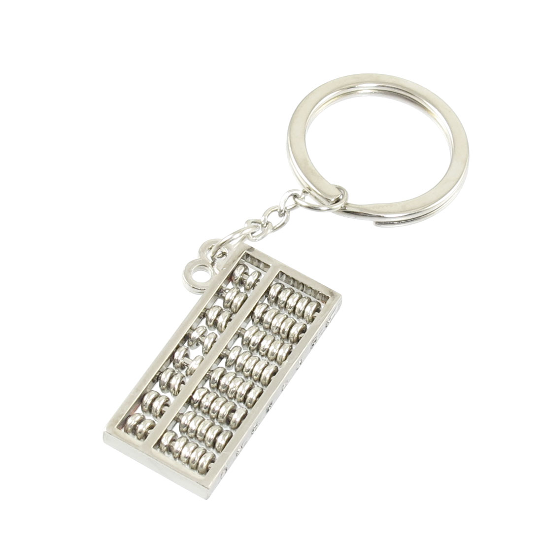 Silver Tone Micro Abacus Shaped Pendants Keychain Ring Hanger Decor