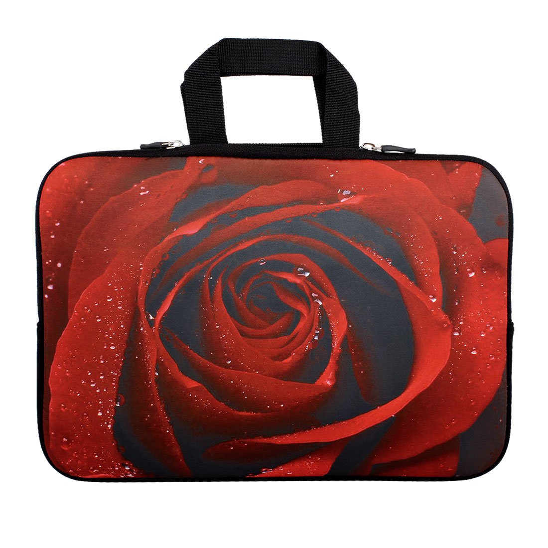 "13"" 13.3"" Red Flower Notebook Laptop Sleeve Handle Bag Case for HP"