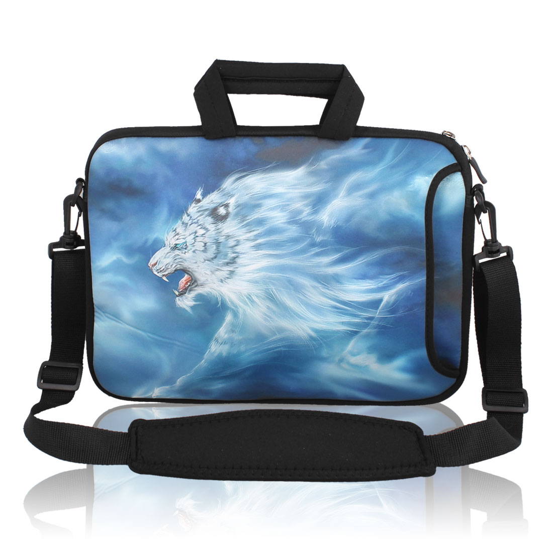 "13"" 13.3"" Wolf Notebook Laptop Sleeve Handbag Case w Shoulder Strap for Asus HP"