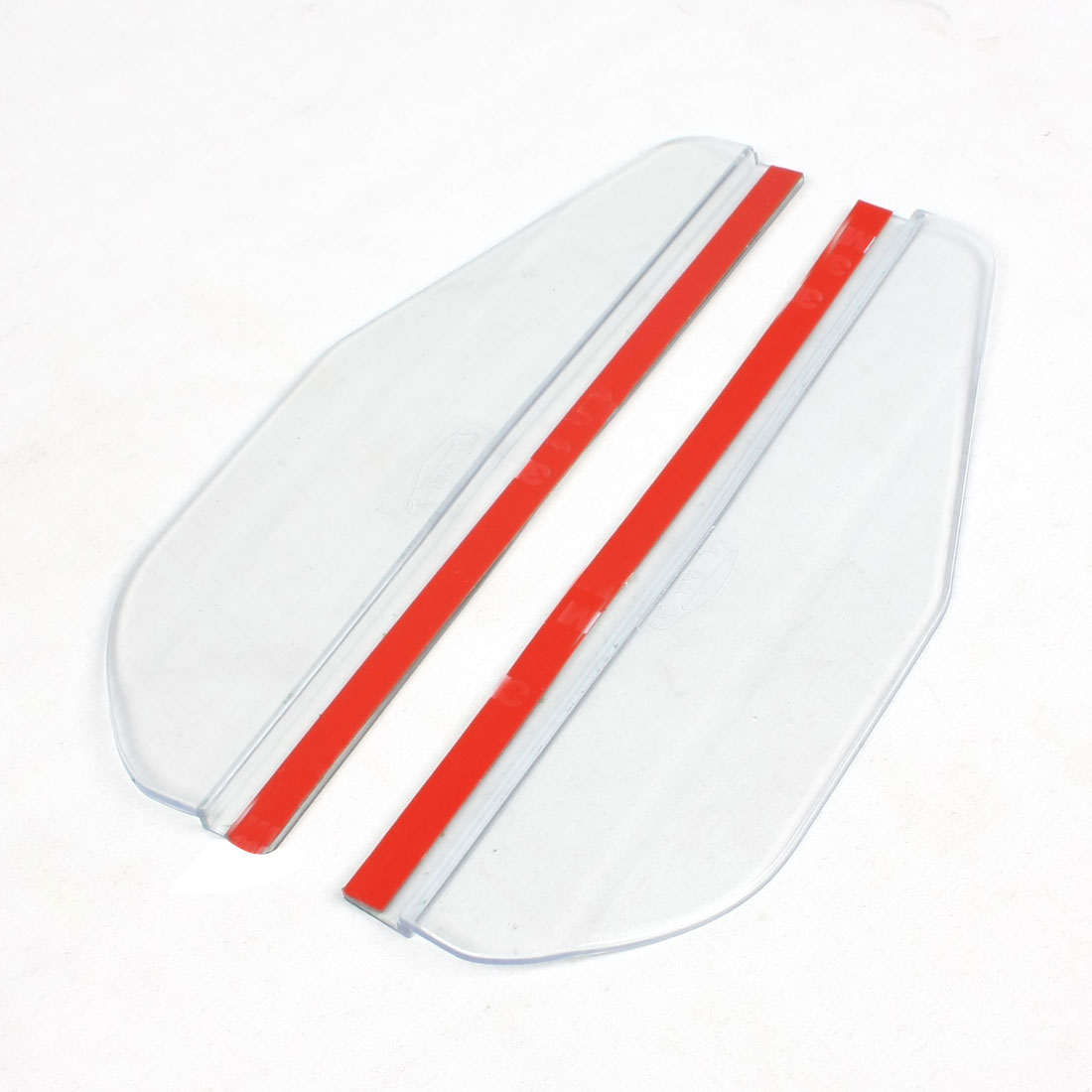 2 Pcs Clear Soft Plastic Car Rearview Mirror Shielding Rain Board