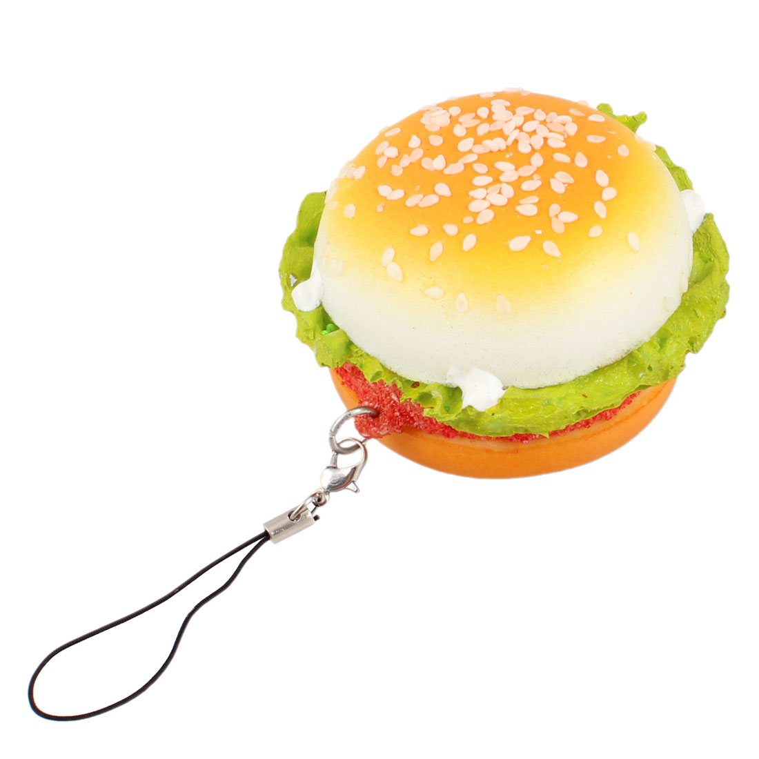 Sponge Hamburger Pendant Hanging Strap String for Cell Phone MP3 MP4