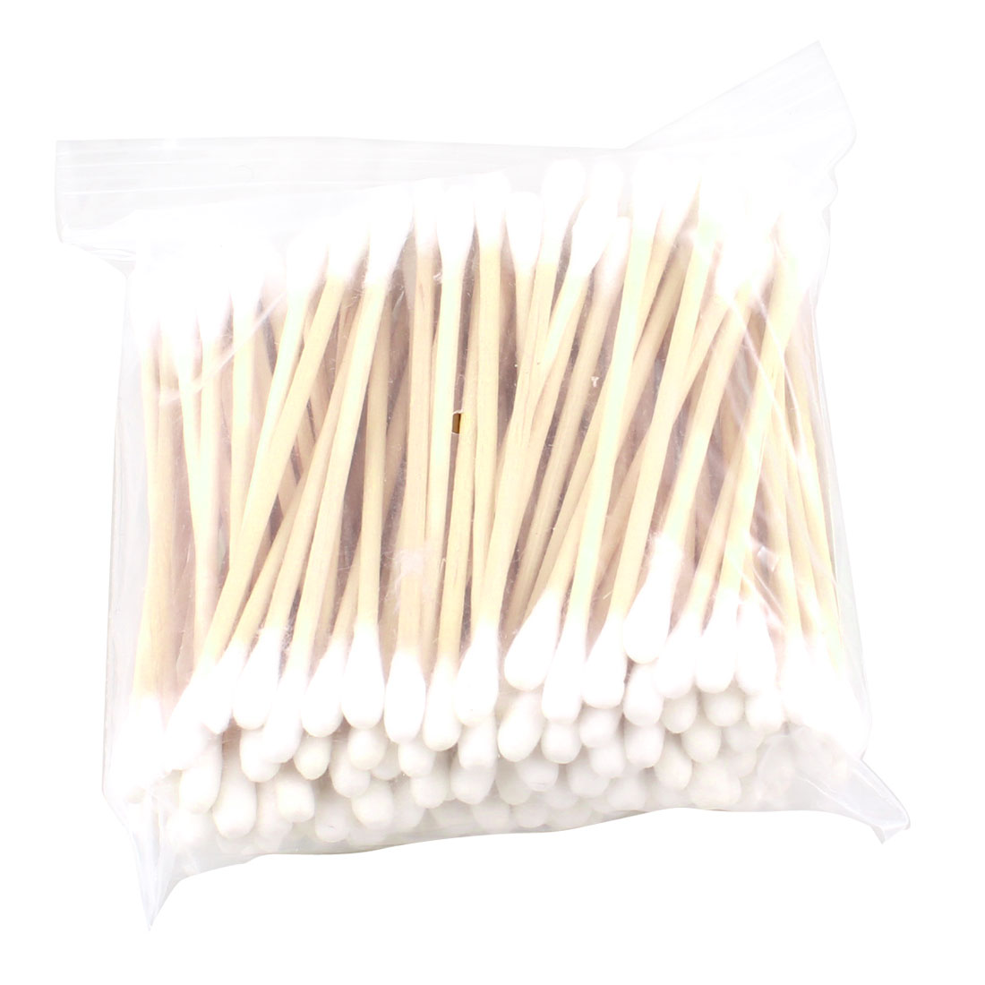 Wooden Bar Make Up Earwax Removing Cleaning Tool Cotton Swab Buds Beige 130 Pcs