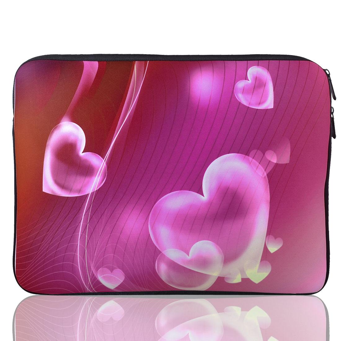 """15\"""" 15.4\"""" 15.6\"""" Heart Print Neoprene Notebook Laptop Sleeve Bag Case for HP"""