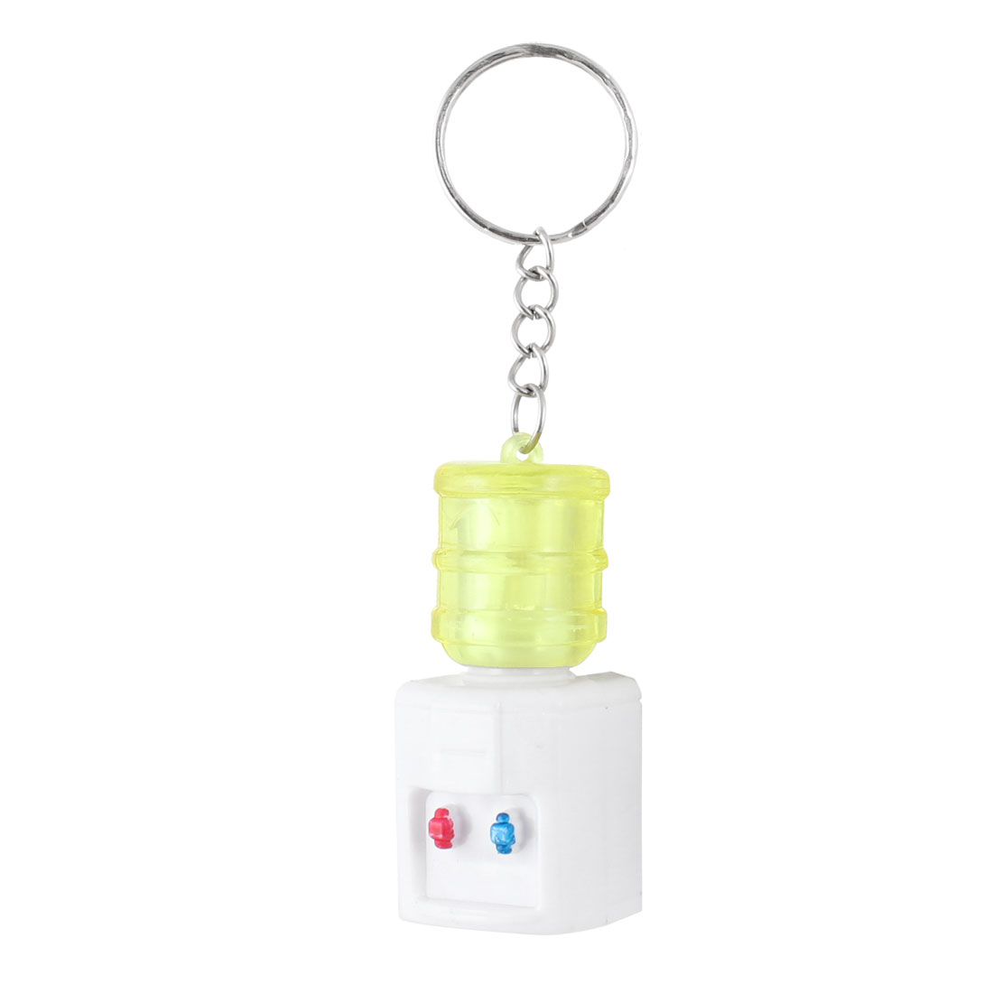 Clear Yellow White Water Dispenser Pendant LED Flashlight Torch Keyring