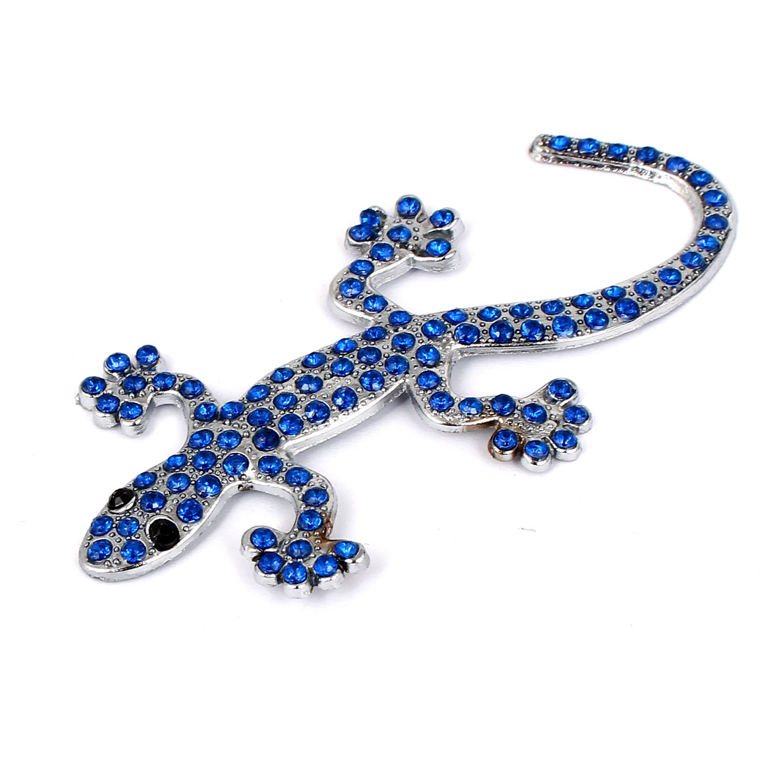 Bling Blue Crystal Decor Wall Gecko Design 3D Sticker for Auto Car