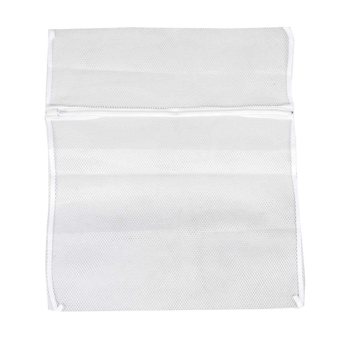 Meshy Design Zip Up Laundry Clothes Washing Bag 60cm x 50cm