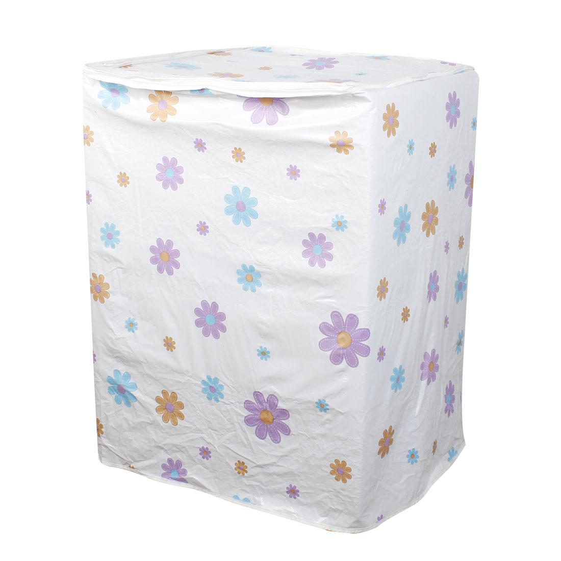 Home Colorful Flower Pattern A-Type Washing Machine Guard Cover White