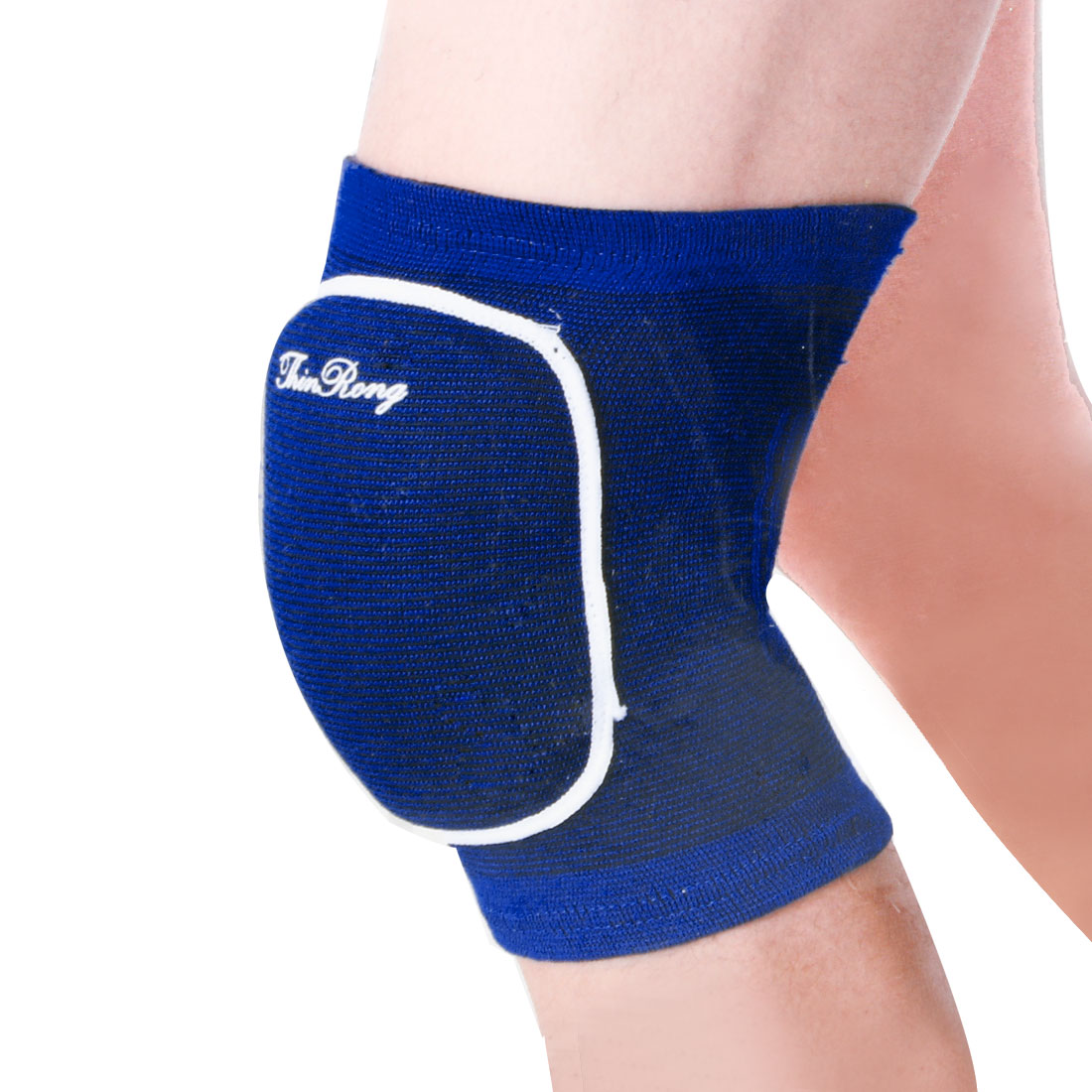 Blue Pullover Style Striped Pattern Stretchy Knee Support Protector