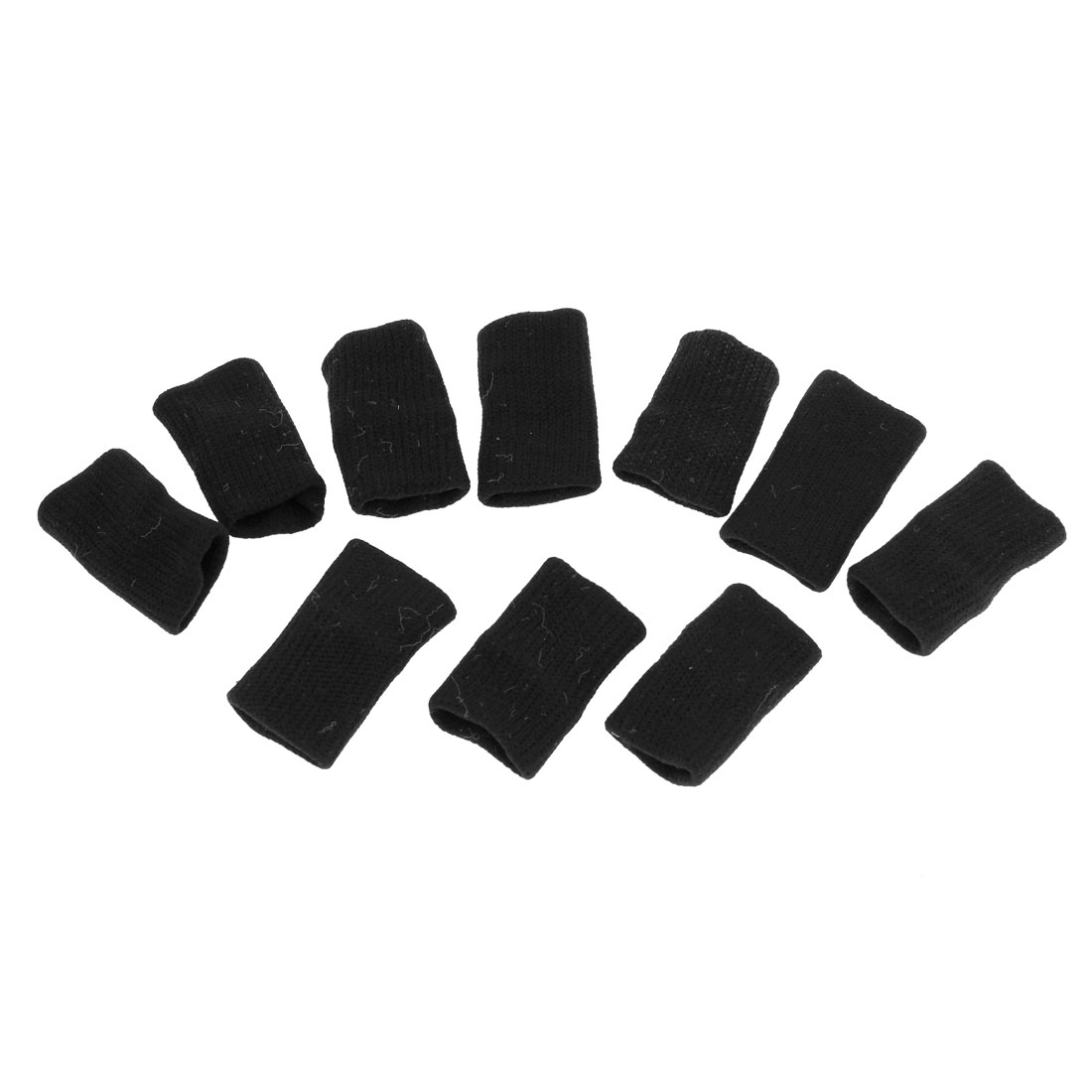 10 Pcs Sports Black Nylon Spandex Finger Sleeves Cover