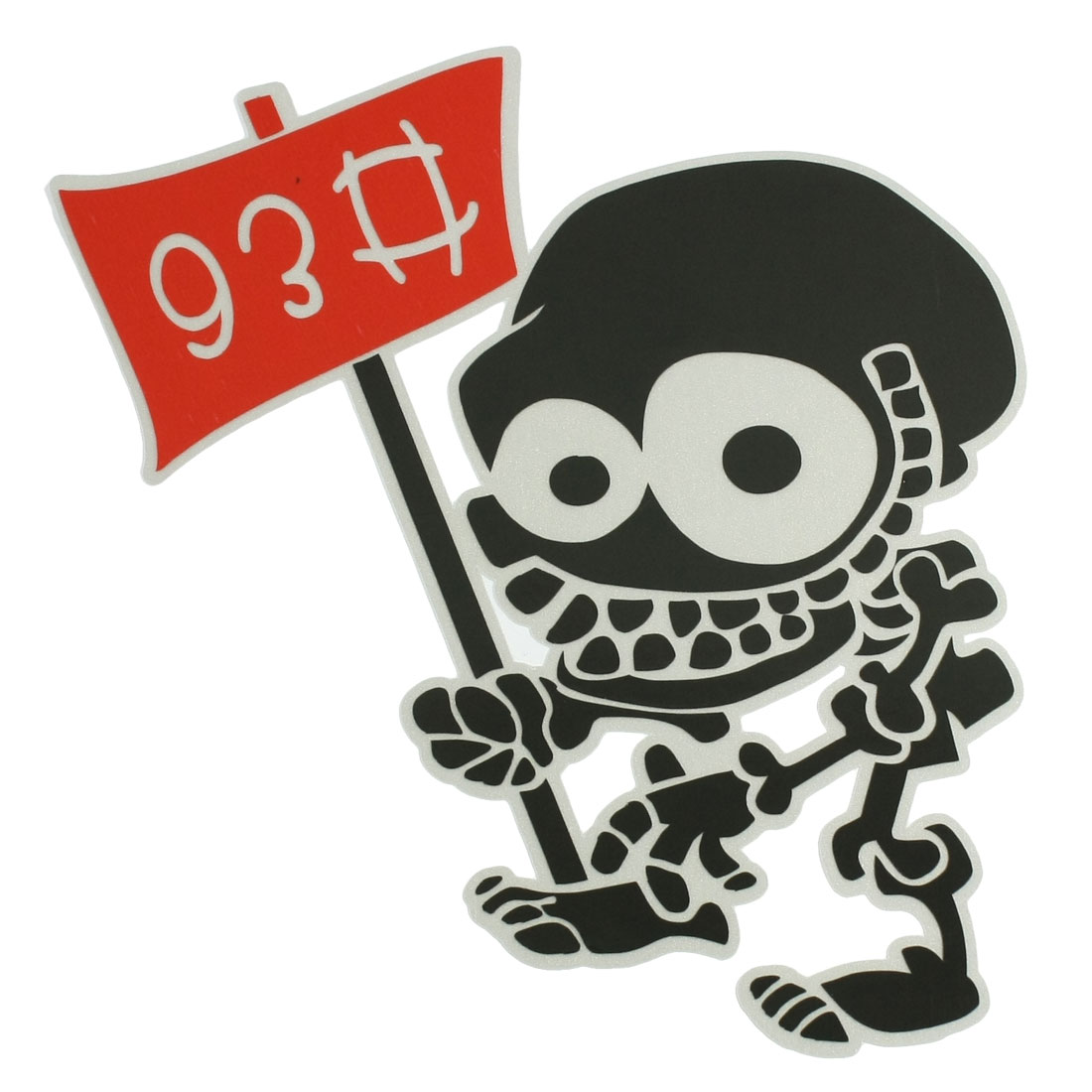 Car Exterior PVC Plastic Skull 2D Sticker Decal Tri Color