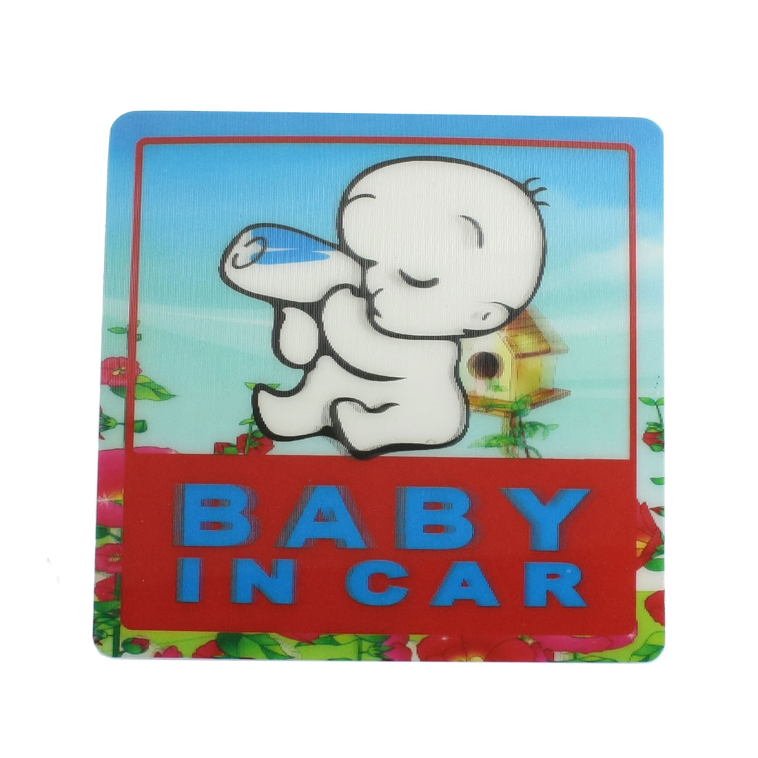 Cars Rear Window Multicolor Plastic Baby in Car Warning Safety Sign