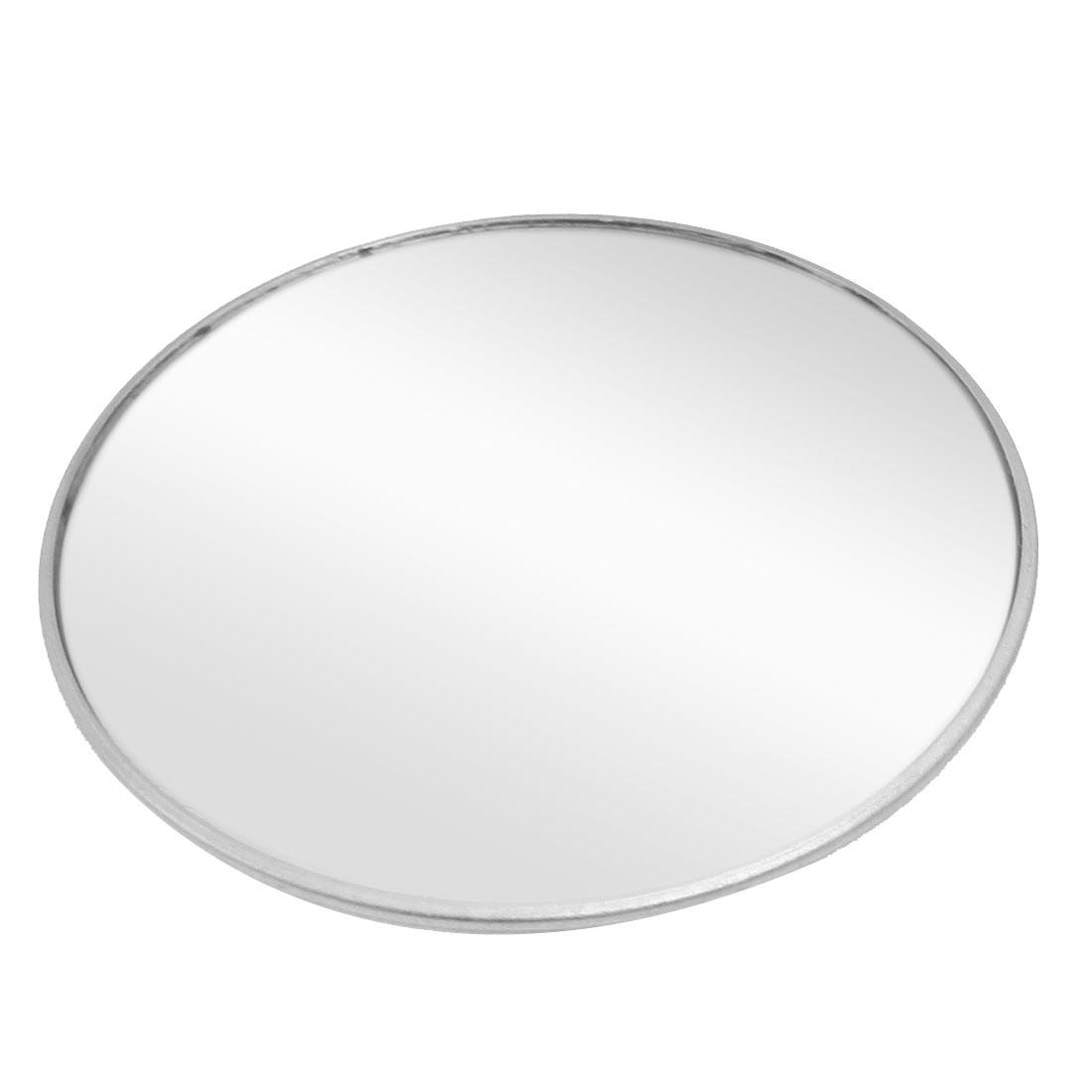 """Car Convex Round Rear View Blind Spot Mirror Silver Tone 3.6"""""""