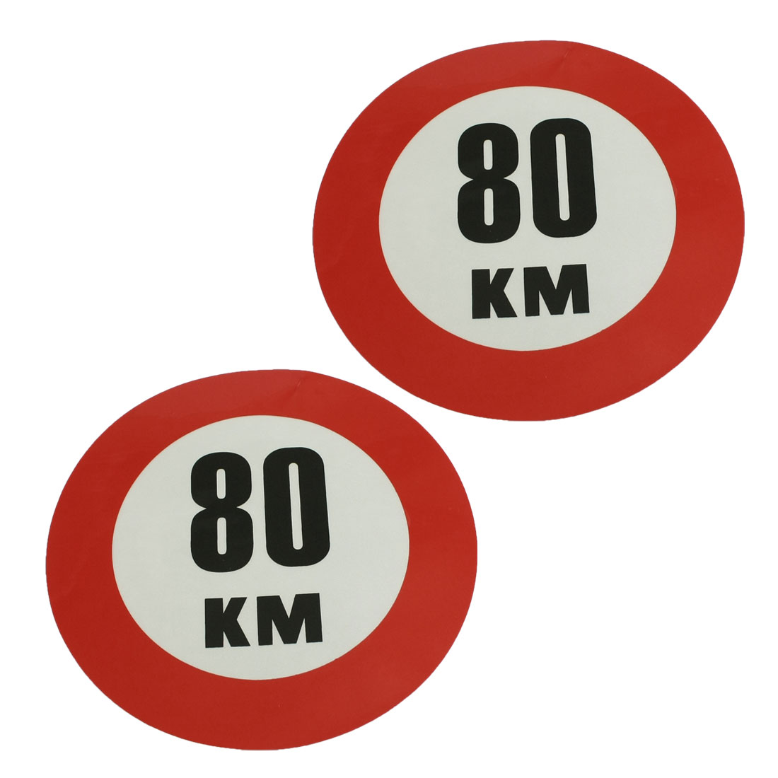 Vehicle Car Window Reflective 80 KM Speed Limit Sign Sticker Decal 2 Pcs