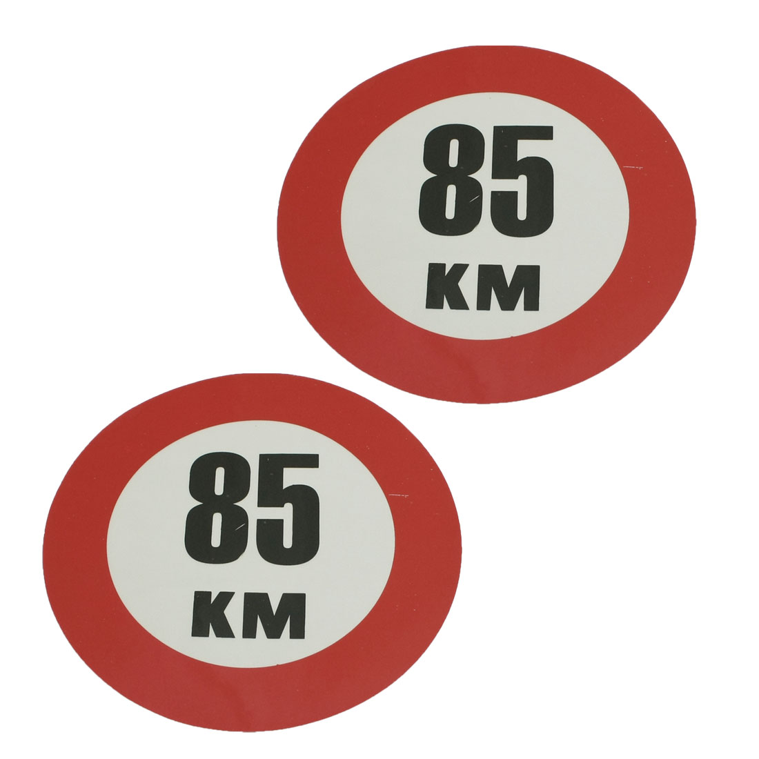 2 Pcs Round Road Speed Limit Sign 85 KM Truck Car Stickers Decals
