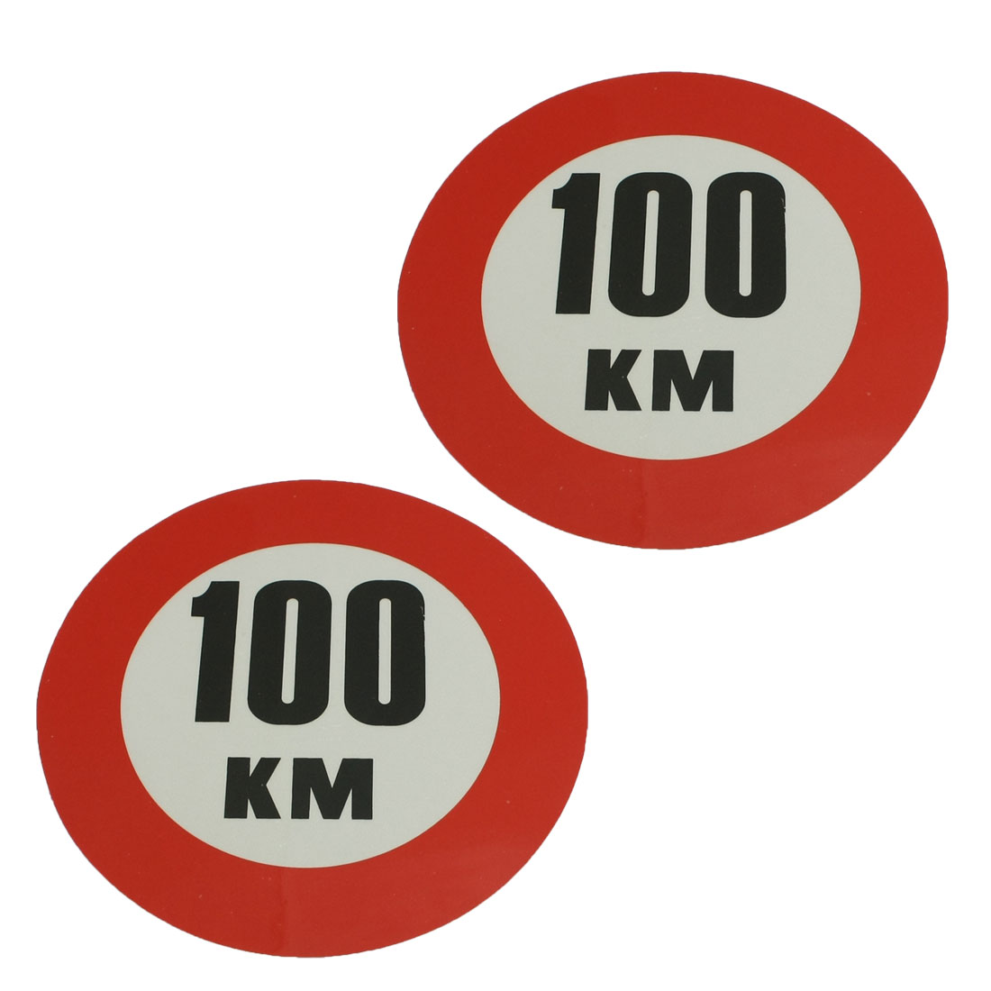 2 Pcs Self Adhesive 100 KM Auto Car Rear Window Reflective Sticker Sign Decal