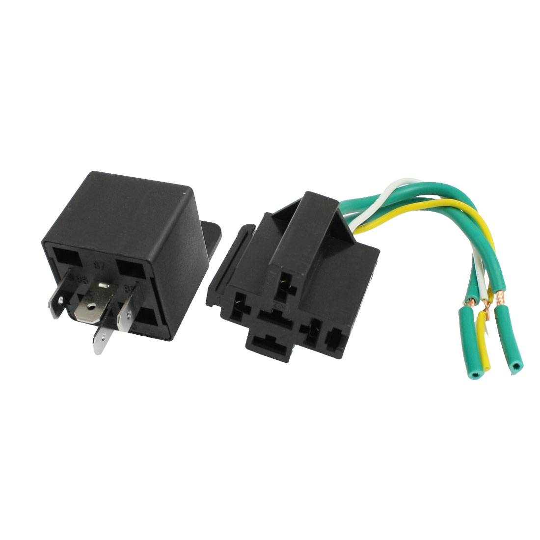 Car Truck Alarm SPST Relay Socket 4 Pin 4 Wire Cable 30A 14V DC