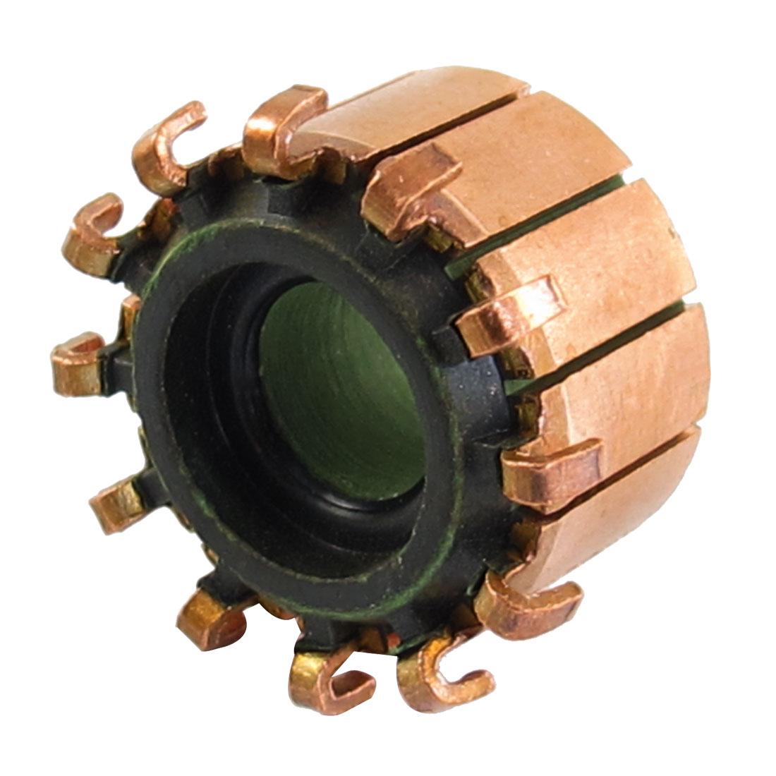8mm x 18.9mm x 12.5mm 12P Copper Bars Alternator Electric Motor Commutator