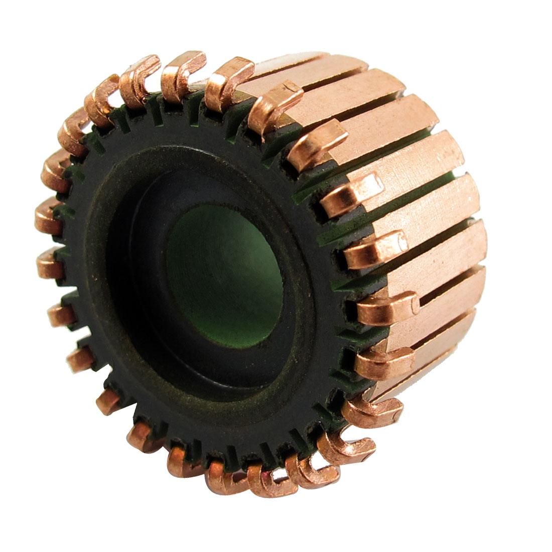 7.14mm x 18.9mm x 12.5mm 24P Copper Bars Alternator Starter Motor Commutator