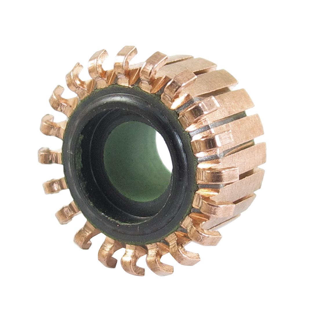 6.35mm x 15mm x 10mm 20P Copper Bars Armature Commutator for Starter Motor