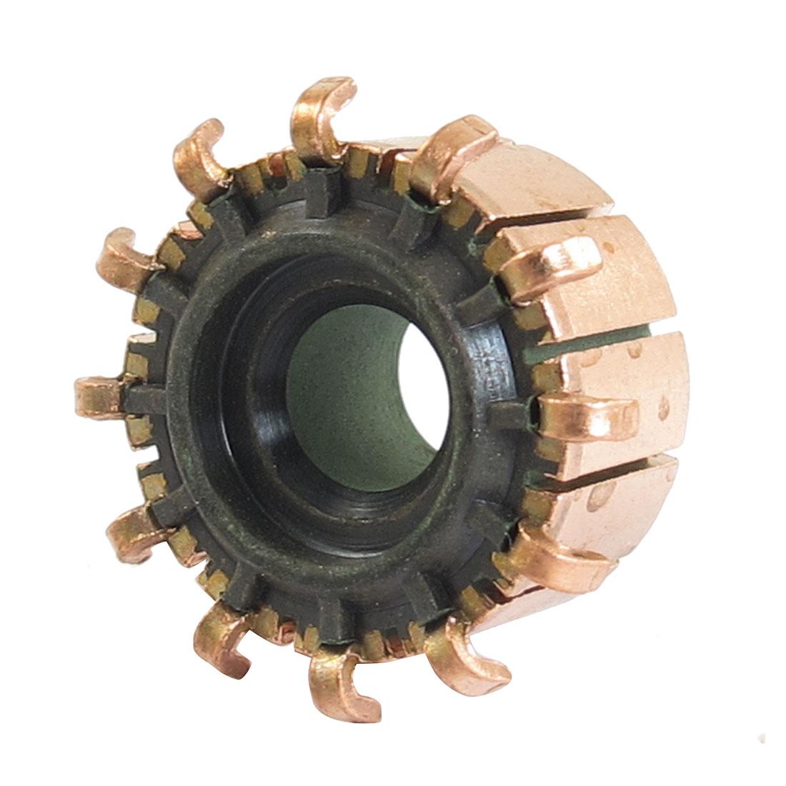 6mm x 16.5mm x 11.5mm 12P Copper Bars Alternator Electric Motor Commutator