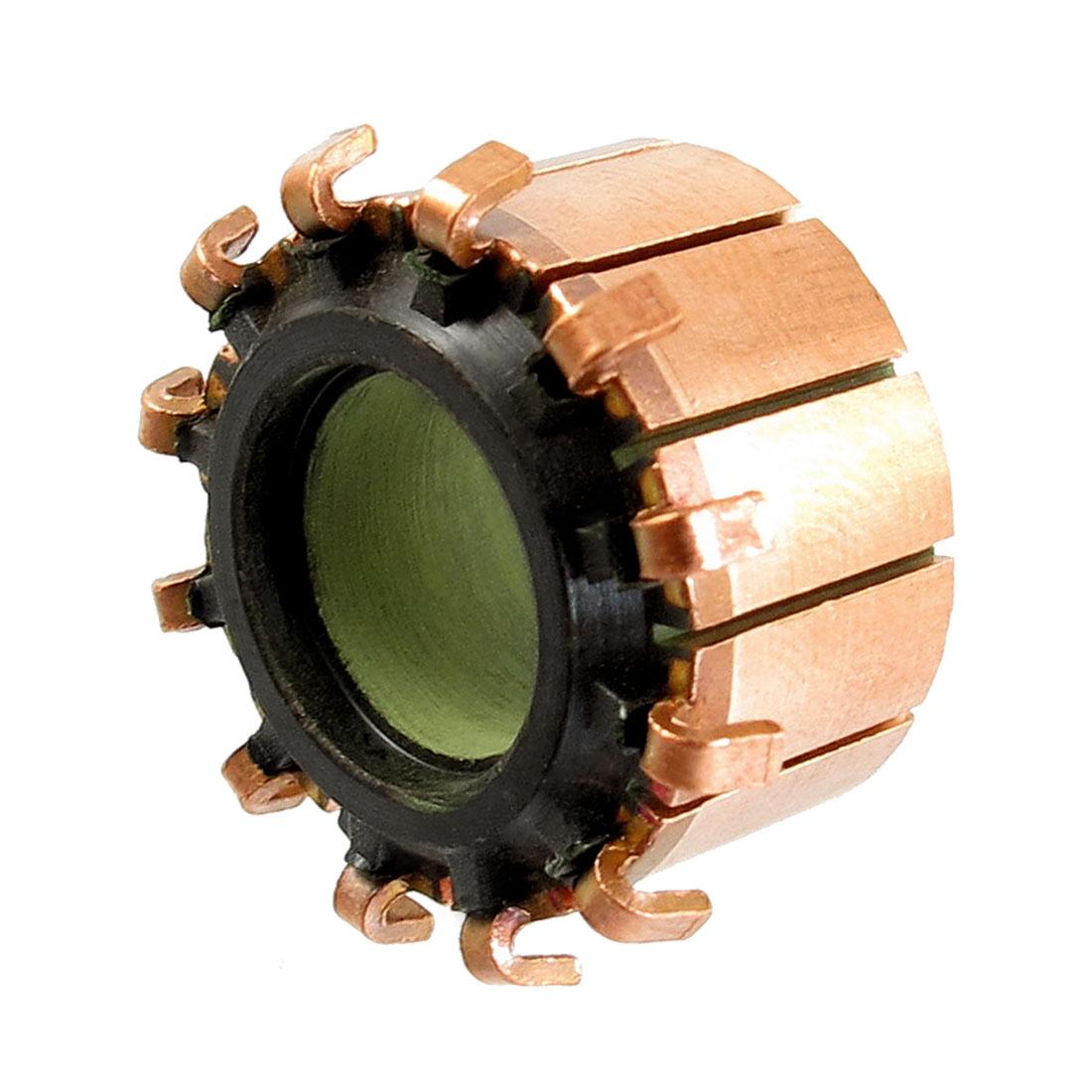 10mm x 18.9mm x 11.7mm 12P Copper Bars Alternator Electric Motor Commutator