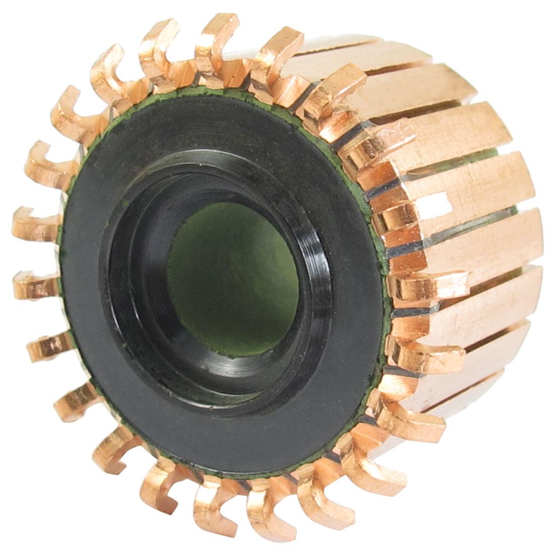 8mm x 23.4mm x 17.5mm 22P Copper Bars Armature Commutator for Starter Motor