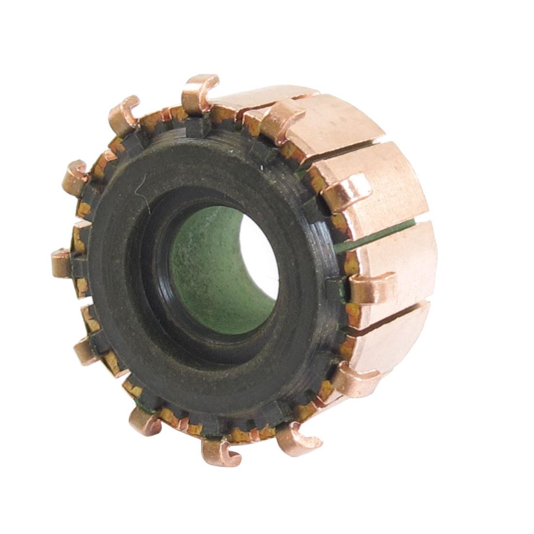8.1mm x 21.5mm x 12mm 12P Copper Bars Armature Commutator for Starter Motor