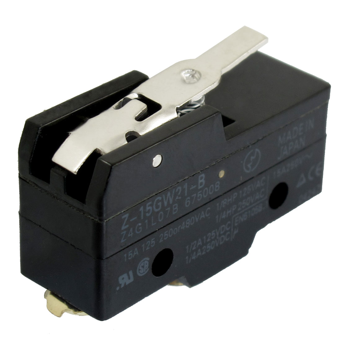 Screw Terminals Short Hinge Lever Micro Limit Switch 250VAC 15A