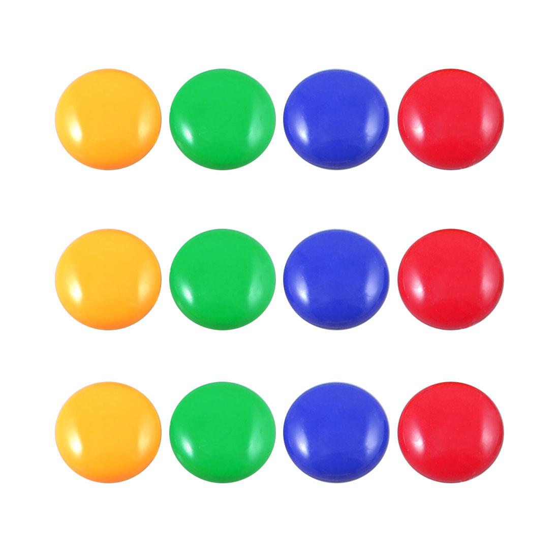 12 Pcs Multicolor 20mm Dia Round Fridge Magnets Paper Holder Set