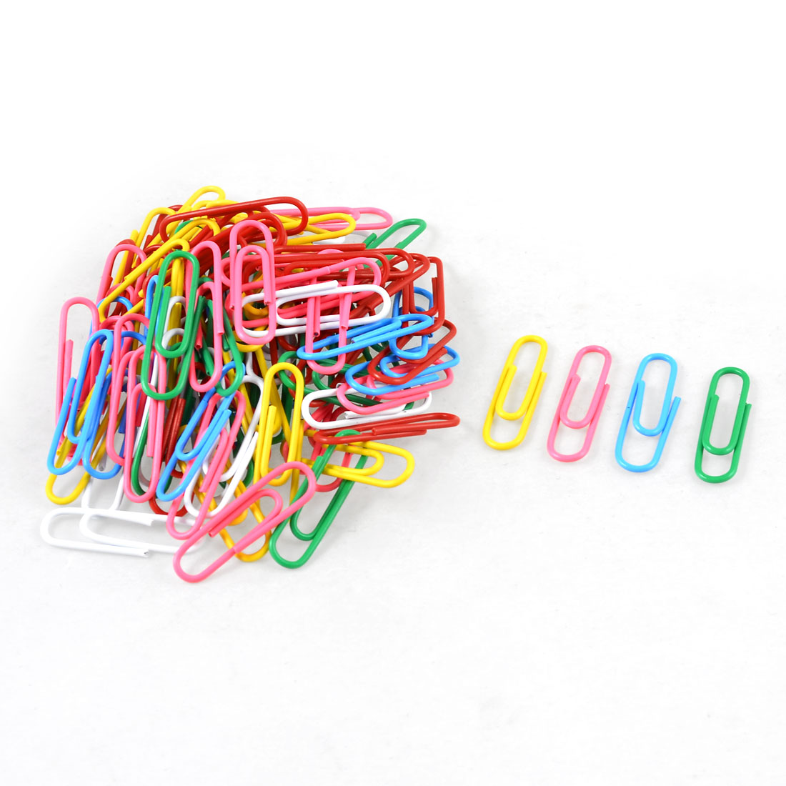 100 Pcs Assorted Color Plastic Coated Metal Paper Money Invoice Paper Clips