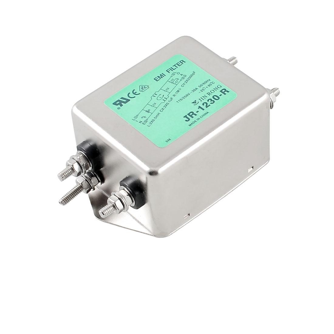 JR-1230-R 30A Alternating Current Power Line EMI Filter AC 115/250V 50/60Hz