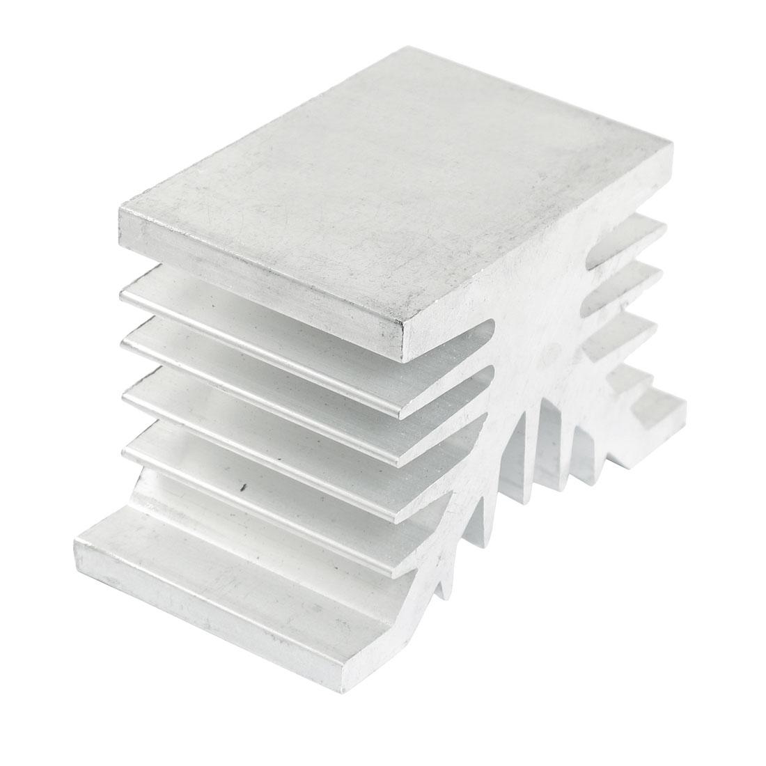 80mm x 50mm x 42mm Heatsink Heat Diffuse Aluminium Cooling Fin