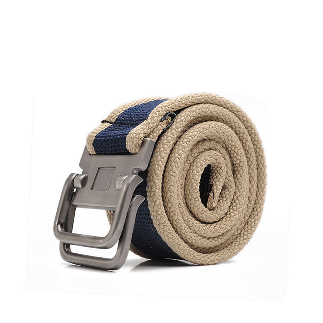 Mens Dark Blue Khahi Fashion Sturdy Canvas Webbing Easy Matching Waistbelt
