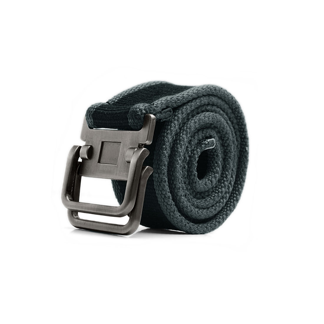 Mens Black Gray New Fashion Forged Alumium Slide Buckle Canvas Webbing Waistbelt