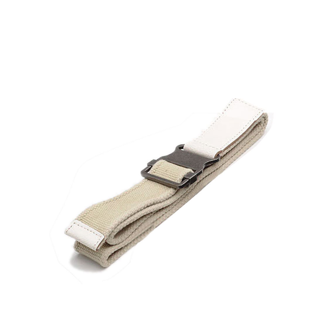 Korea Fashion Beige Canvas Webbing Sealed Tip Waistbelt For Mens