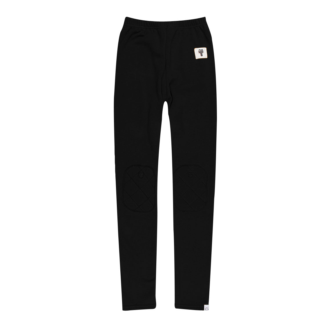 Ladies Black Stretchy Winter Elastic Waist Casual Chic Leggings XS