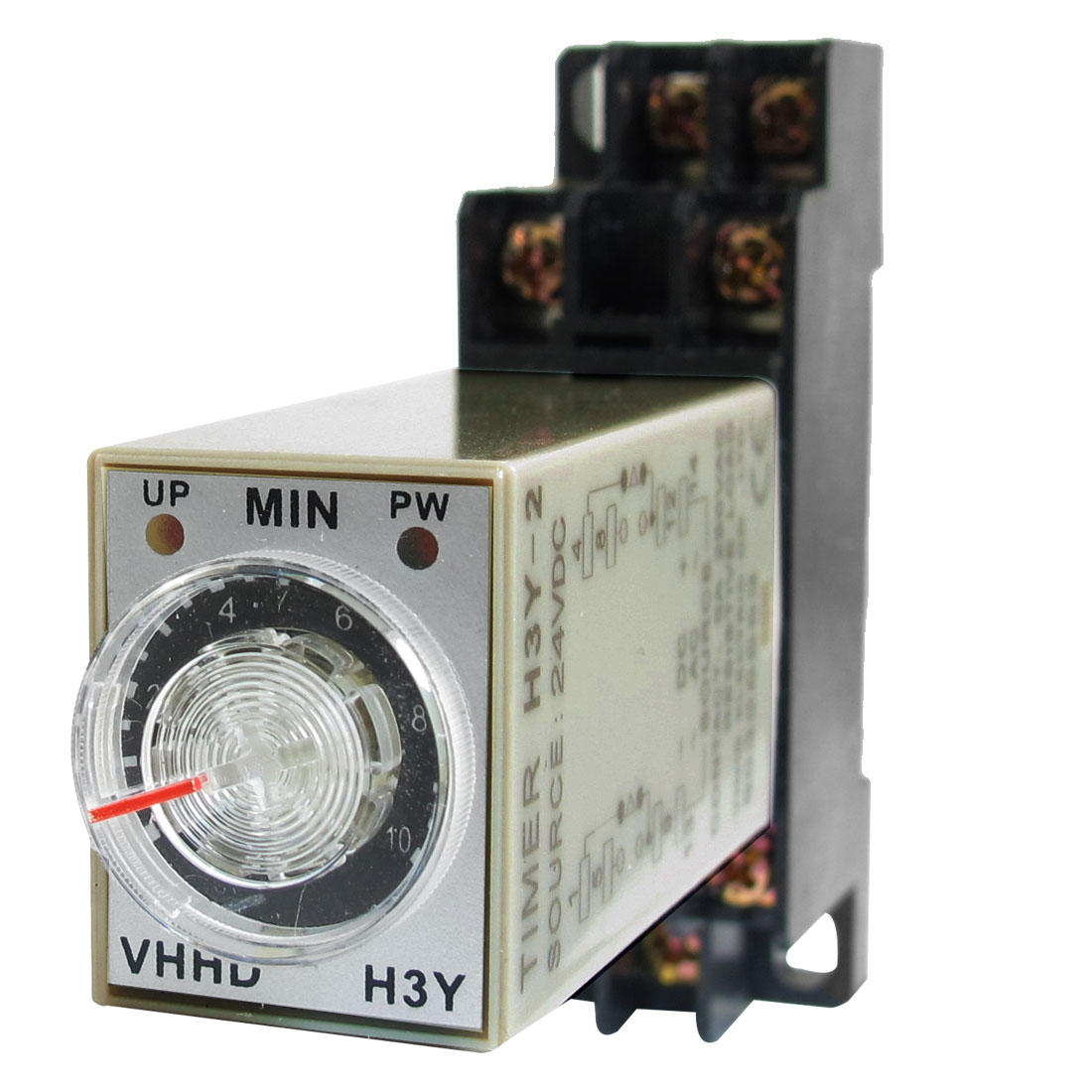 DC 24V 0-10 Minute 10m Timer Power On Delay Time Relay 8 Pin H3Y-2 w Socket
