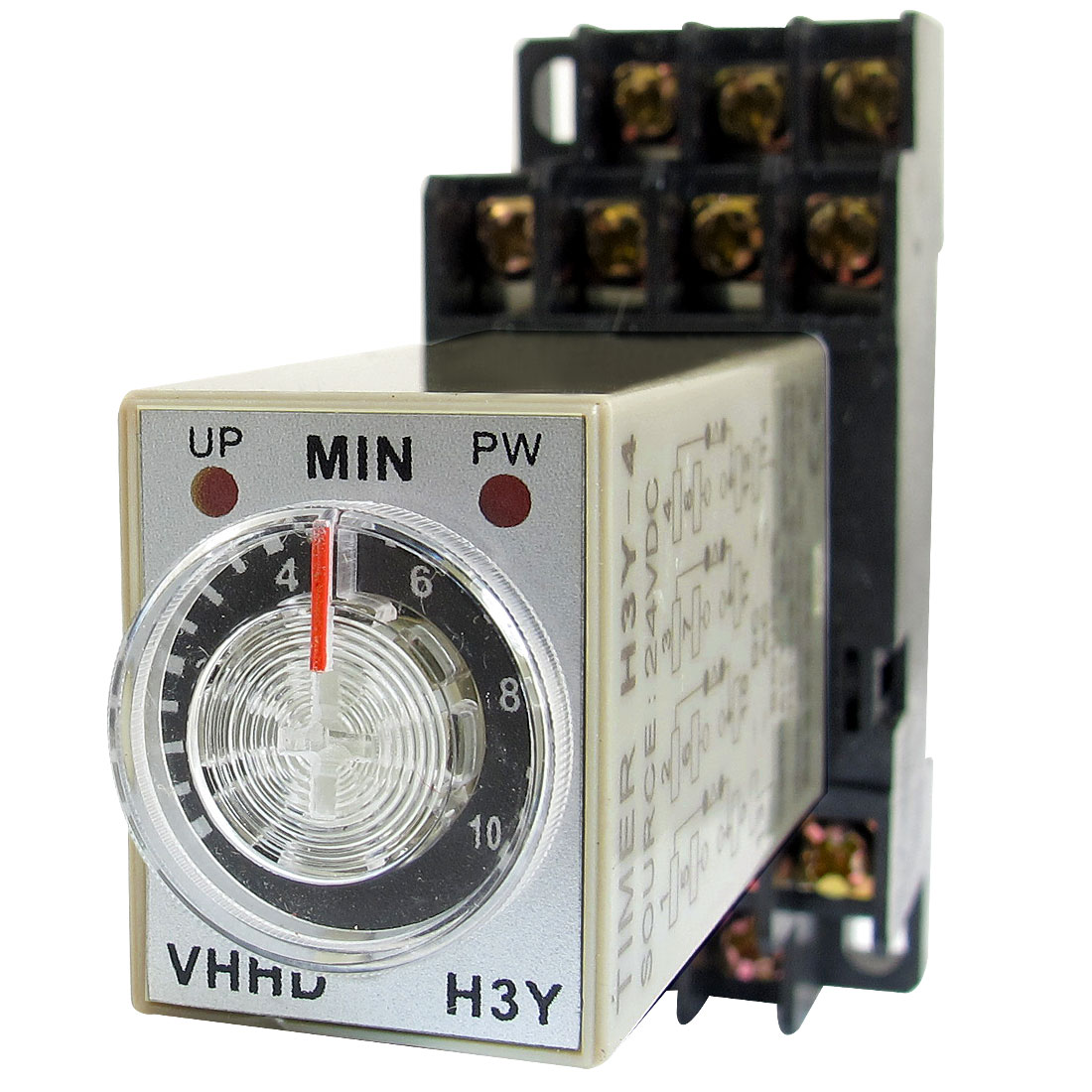 DC 24V 0-10 Minute 10m Timer Power On Delay Time Relay 14 Pin H3Y-4 + Socket