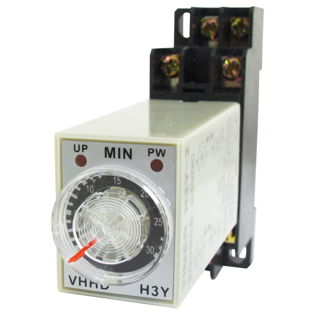 DC 24V 0-30 Minute 30m Timer Power On Delay Time Relay 8 Pin H3Y-2 w Socket