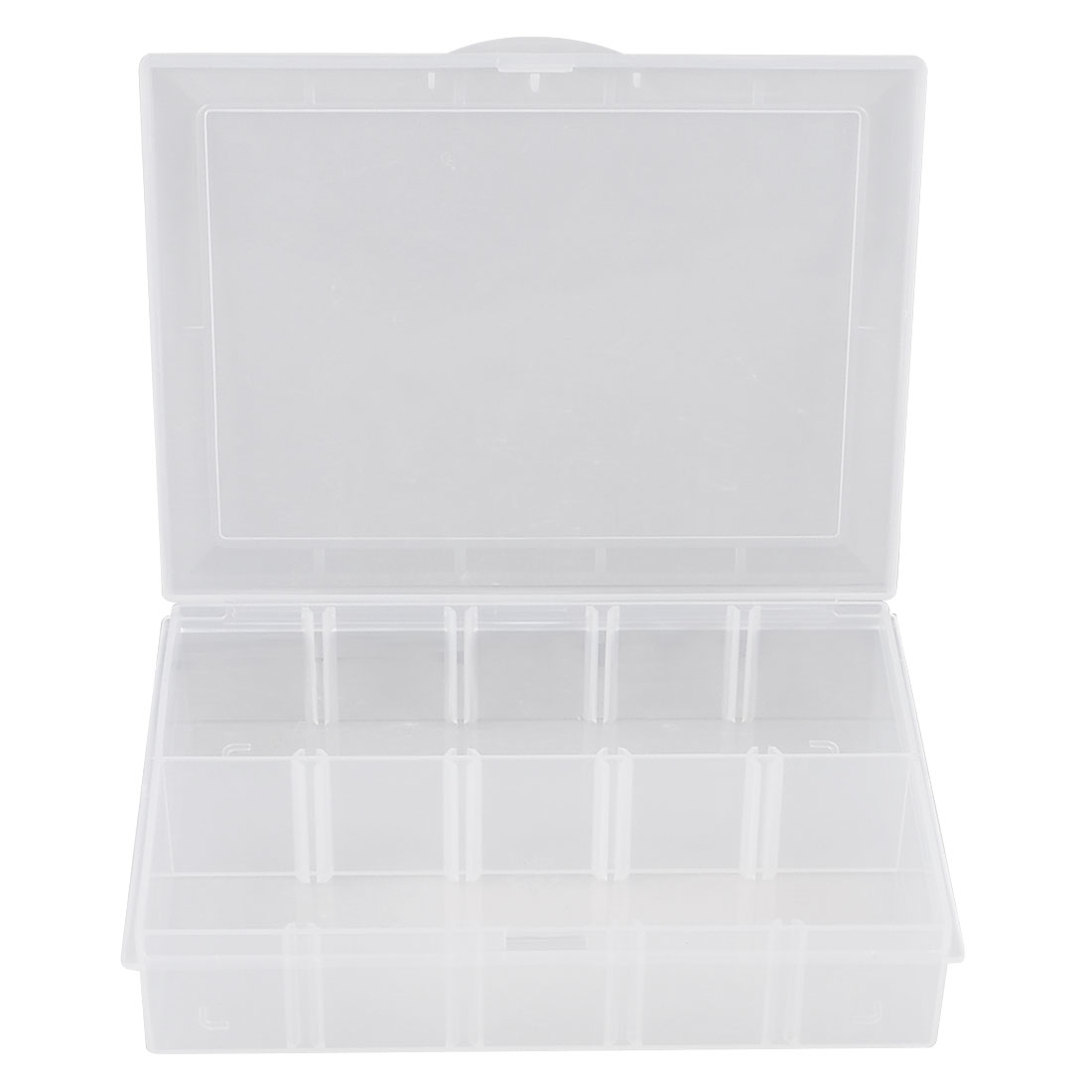 Plastic 10 Compartments Jewelry Electronic Component Storage Clear Box Case