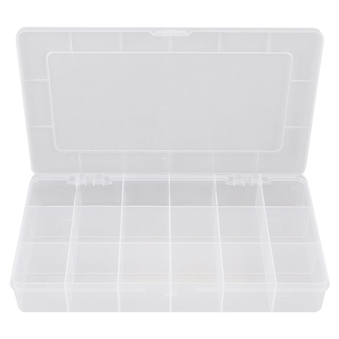 Plastic 18 Compartments Electronic Components Storage Box Case Container