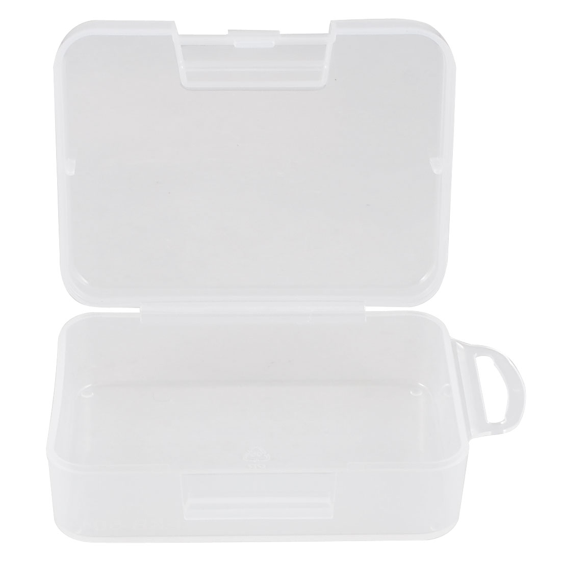 Clear Plastic 9cm x 6.5cm x 3cm Jewelry Earring Fish Hook Case Box Holder